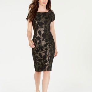 Adrianna Pappell metsllic leaf dress